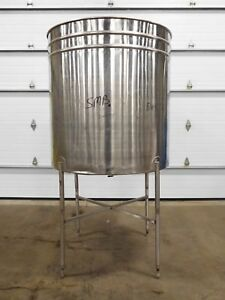 Rx 4423 Lomax Ba300 200 Gallon 304 Stainless Tank 46 Dia 48 Straightwall