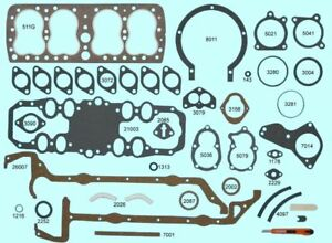 New 1946 48 Ford Flathead Complete Engine Gasket Set Best Brand Rs511g