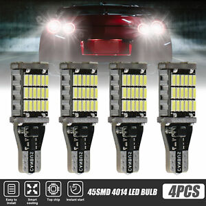 4x Bright 45smd Led Bulb Car Reverse Light T15 921 Canbus Error Free Backup Lamp