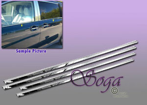 For 2011 2017 Toyota Sienna Chrome Stainless Steel Window Sill Sills 4pcs Trims