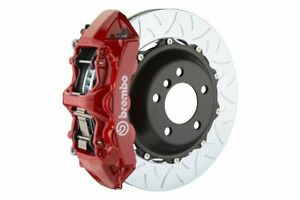Brembo Gt Brake Kit Front 355mm Slotted Type 3 6 Piston Red R32 Mk5 2008 2008