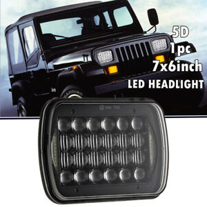 7 x6 5 x7 120w Square Led Light Bulbs Hi lo Beam Headlight Drl For Jeep Xj Yj