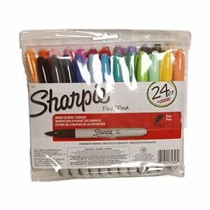 24 pack Sharpie 75846 Fine Point Permanent Marker Variety Colors Pen Set Draw