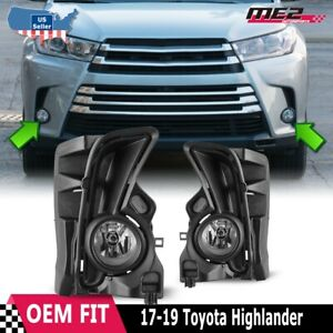 2017 2018 Toyota Highlander Fog Light Kit W Wiring Switch And Bezels