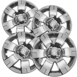 4pc Hubcaps Fits 03 12 Nissan Sentra Wheel Covers 15 Inch 5 Spoke Chrome