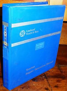 Leyland 285 2100 Tractor Workshop Operation Manual W binder Akd 8460 new