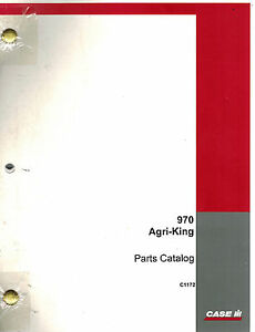 Case 970 Agri king Tractor Parts Catalog A1117 Manual