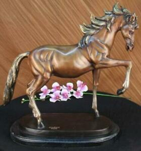 Gorgeous Real Bronze Horse Stallion Sculpture Numbered Figurine Home Decor