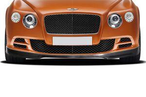 For 12 15 Bentley Continental Gt Coupe Carbon Af 1 Front Spoiler 2 Piece 113735
