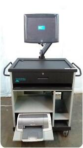 Sandhill Workstation Cart W Monitor And Printer 148864