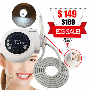Dental Ultrasonic Piezo Scaler Fit Ems Woodpecker With Led Light Handpiece C7