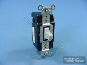 Leviton Gray Spdt Double Throw Maintained Contact Toggle Switch 20a Bulk 1285 gy