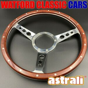 Classic Wood Astrali 14 Dished Steering Wheel Compatible With Moto lita Boss