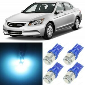 15 X Ice Blue Interior Led Lights Package For 2003 2012 Honda Accord Tool