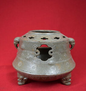Original Rare Antique 18th C Korean Ceramic Glazed Incense Burner