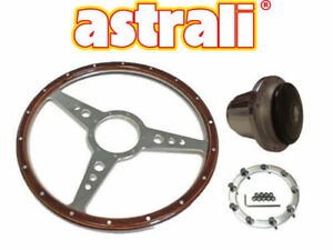 Mg Midget Mgb 15 Slotted Wood And Alloy Steering Wheel Polished Fitting Hub
