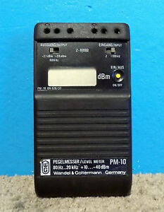 Wg Wandel Goltermann Model Pm 10 Pegelmesser Level Meter Free Shipping