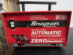 Snap On Ya1210 10 2a 12v Automatic Intelligent Battery Charger For Parts Only