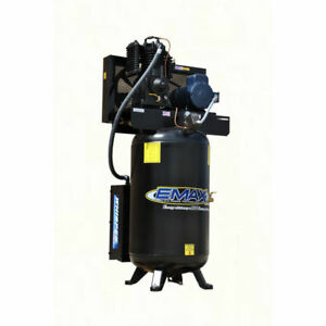 Emax 80 Gallon 5 Hp 2 stage 1 phase Vertical Air Compressor Pe05v080i1 New