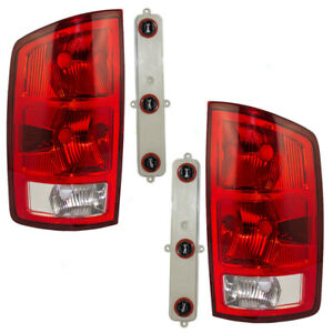 New Pair Set Tailight Taillamp W Circuit Board Dot 02 06 Dodge Pickup Truck