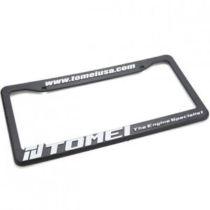 Tomei License Plate Frame the Engine Specialist Black White logo