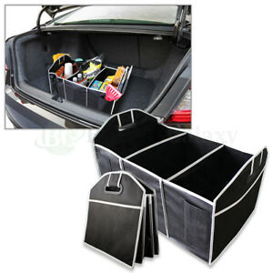 Extra Large Car Auto Trunk Collapsible Organizer With 3 Compartments Us Seller