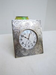 Gorham Co Clock With Sterling Silver Case Large Size