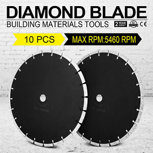 10pcs 14 12mm Segmented Diamond Saw Blade Asphalt Wet Dry Power Cutting