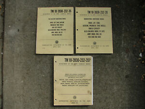 Allis Chalmers Fp Forklift Manual Set 3 Tm 10 3930 232 Fp60 24ps Army Mhe 183