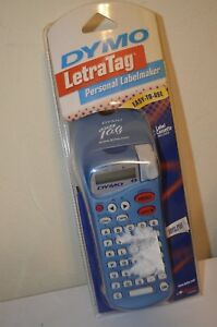 Dymo Letratag Blue Personal Label Maker White 1 2 Labeling Cassette Brand New