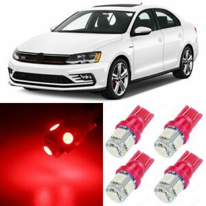 13 X Ultra Red Interior Led Lights Package For 2011 2019 Volkswagen Vw Jetta