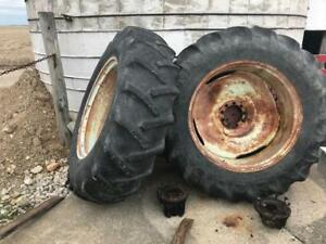 One Set Allis Chalmers Tractor Dual Tires Rims And Hubs John Deere Agco Kubota