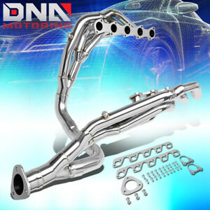 For 1999 2004 Ford F250 f350 Sd 6 8 V10 Long Tube Exhaust Header Manifold