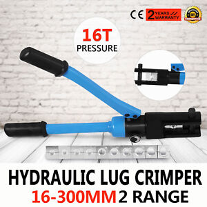 16 Ton Hydraulic Wire Terminal Crimper Plier 11 Dies Cable Wire Factory Direct