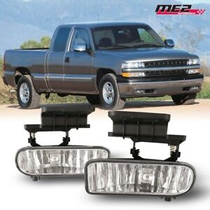 For 1999 2002 Chevy Silverado Pair Oe Factory Fit Fog Light Bumper Clear Lens