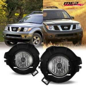 For 2005 2009 Nissan Frontier Pair Oe Factory Fit Fog Light Bumper Clear Lens