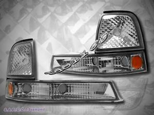 1998 2000 Ford Ranger Corner Signal Lights Clear Pair Set