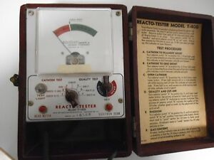 Vintage Anchor Reacto tester Crt Tubes Model T 401 With Instructions