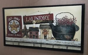 Self Serve Laundry Everything Clean Metal Star 10x19 Country Decor Wooden Sign