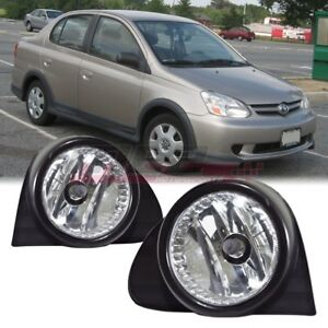 For 2003 2005 Toyota Echo Pair Oe Factory Fit Fog Light Bumper Kit Clear Lens