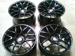 Porsche Ruger Mesh Black 20 Wheels Rims 911 987 997 991 Cayman Carrera Turbo