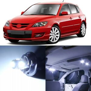 8 X Xenon White Interior Led Lights Package For 2004 2009 Mazda 3 Tool
