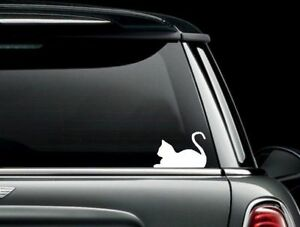 Cat Silhouette Die Cut Vinyl Car Window Decal Bumper Sticker Us Seller