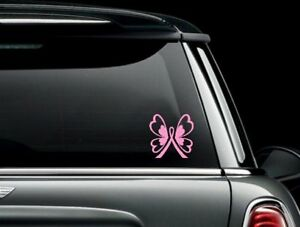 Breast Cancer Butterfly Ribbon Vinyl Car Truck Window Laptop Decal Sticker