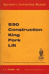 Case Vintage 530 Construction King Forklift Operator s Manual 9 70892