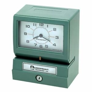 Acroprint 150nr4 Electric Print Time Recorder Card Punch stamp acp012070411