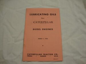1953 Lubricating Oils For Caterpillar Diesel Engines Brochure