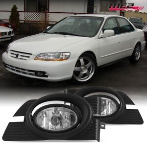 For 1998 2002 Honda Accord Winjet Oe Factory Fit Fog Light Bumper Kit Clear Lens