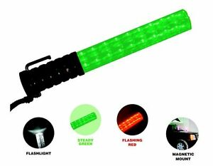 Green Red Police Security Traffic Safety Led Wand Parking Lot Concert Game