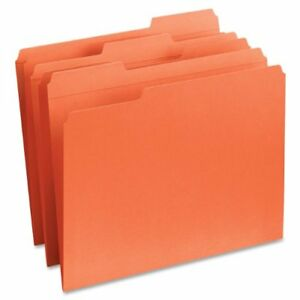 Smead 12534 Orange Colored File Folders With Reinforced Tab Letter smd12534